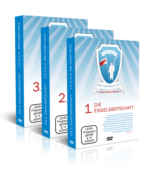DVD-Set: 1-3 - JOSUA BW CAMP 1.-3. Engelsbotschaft (16 DVDs)